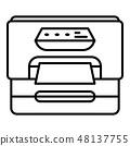Plastic printer icon, outline style 48137755