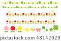 可以用于春天的春天的插图材料集·花和昆虫 48142029