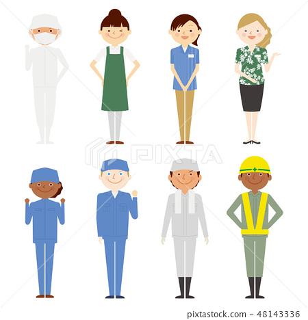 外國人全身女孩工作人員設置 48143336