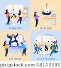 Office Life Flat Vector Illustrations Collection 48143395