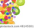 펠트 과일 콜라주 48145001