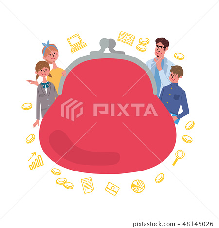 Child-rearing education fund concept concept illustration frame 48145026