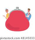 錢包家庭例證框架 48145033