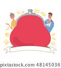 錢包家庭例證框架 48145036