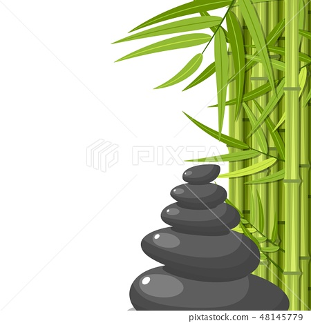 Bamboo and stones - spa background 48145779