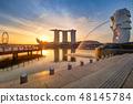 Singapore Skyline. Singapore's business district 48145784
