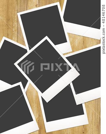 模板 - 寶麗來 - 框架 - 木紋 48146708