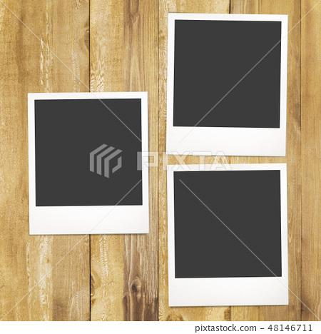 模板 - 寶麗來 - 框架 - 木紋 48146711