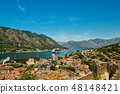 View on Kotor bay and Old Town 48148421