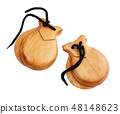 Two Spanish Castanets 48148623