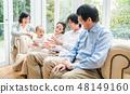 3 세대 가족 가족 단란 48149160