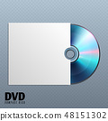 Dvd cd disk with white empty envelope cover vector illustration 48151302