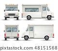 White blank food car, commercial truck isolated 48151568