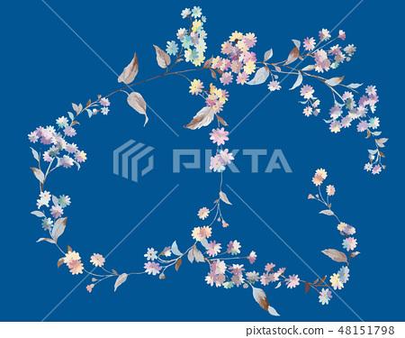 五顏六色的小小菊花花卉插畫 48151798
