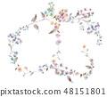 Colorful little chrysanthemum flower illustration 48151801