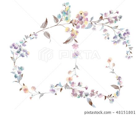 다채로운 작은 국화 꽃 그림 48151801