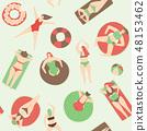 Summer pool pattern 48153462