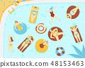 Summer pool pattern 48153463