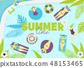 Summer pool pattern 48153465