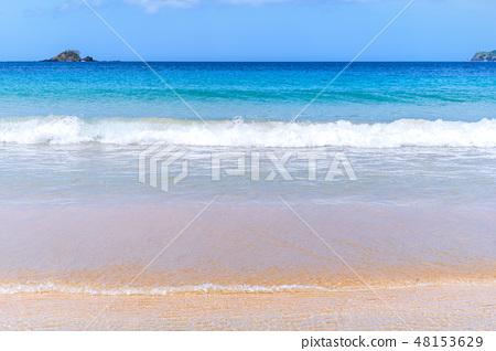 海灘海假期海灘波假期天際線假期海灘 48153629