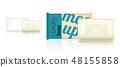 3D Mock up Realistic Soap Bar Sachet Packaging 48155858