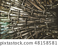 Metal knight swords background. Close up. The concept Knights. 48158581
