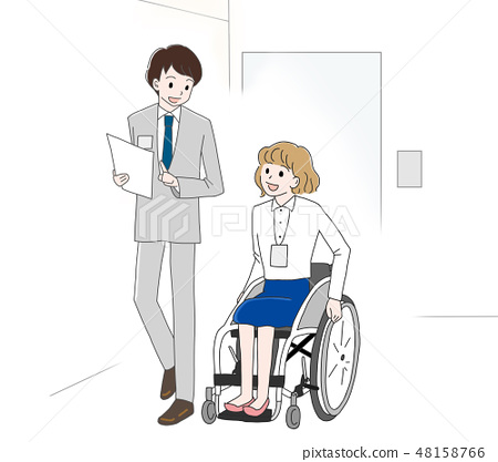 Material Wheelchair office supervised by the Japan Universal Manor Association 48158766