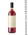 Wine bottle on white 48160399