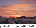 Sunrise in the Werra valley near Herleshausen 48161600