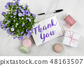 Thank You note 48163507