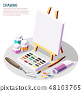 Hobby Crafts Isometric Composition 48163765
