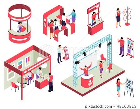 Trade Exhibition Isometric Set 48163815