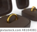 golden weddingd ring in box. 3d illustration 48164081