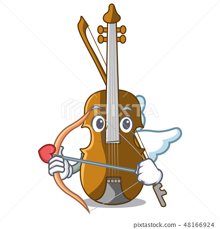 Cupid violin in the a character shape 48166924