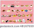 다양한 요리 48167030