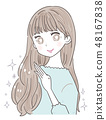 年輕的女士少女頭髮護髮 48167838