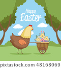 Happy easter day card 48168069