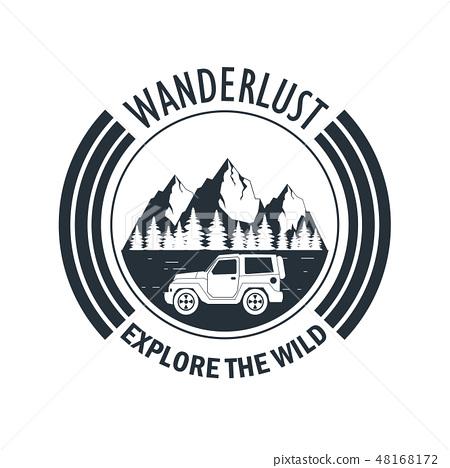 wanderlust adventure logo 48168172