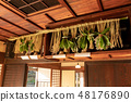 Shinto shrine of an old private house 48176890