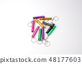 Metal whistle on a white background 48177603