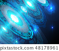 Blue high technology abstract background. 48178961