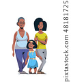 happy three generations african american family celebrating women international 8 march day concept 48181725