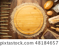 wheat grains and bakery ingredients 48184657