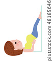 Pregnant woman doing bunk exercises (handstand pose) 48185646