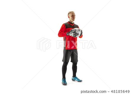 one male soccer player goalkeeper 48185649