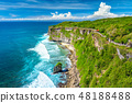 Landscape of Ocean and Rocks beautiful place, Bali 48188488