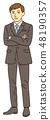 商务套装的男士 48190357