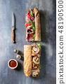 Beef baguette sandwich 48190500