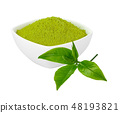 green tea powder and leave 48193821