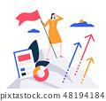 Business leadership - colorful flat design style illustration 48194184
